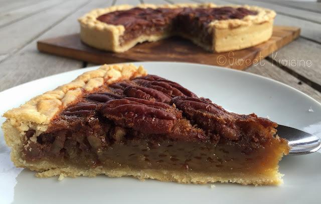 Sweet Kwisine, tarte, noix de pécan, pecan pie, soulfood, Etats-Unis, cuisine américaine, pâtisserie, tarte, golden syrup