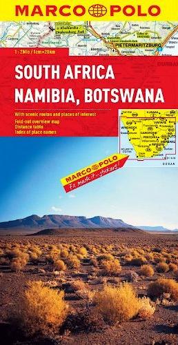 South Africa/Namibia/Botswana (Marco Polo Map)