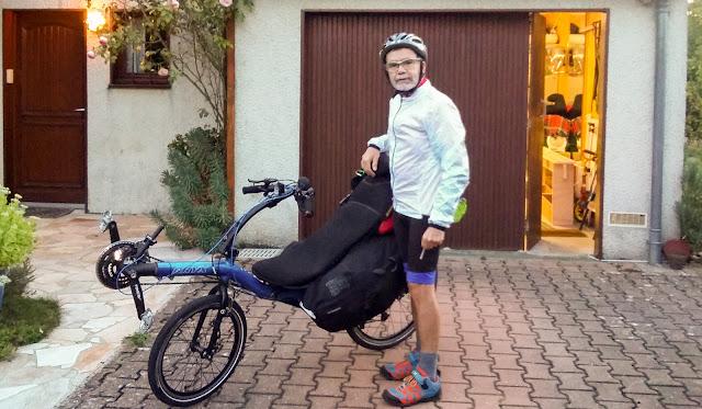 De Paris à Narbonne en vélo, le départ