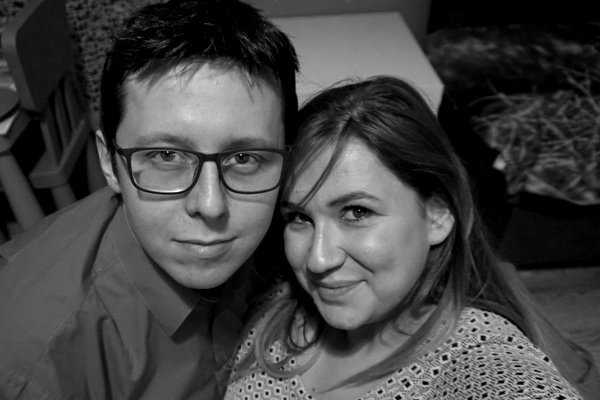 Święta rodzinne mąż i żona