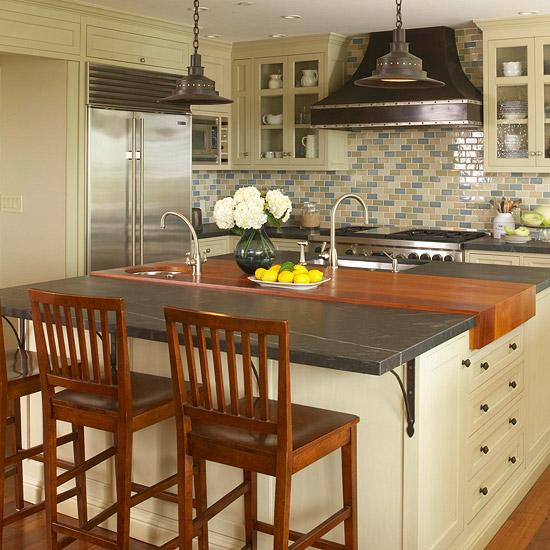 Fotos de cocinas peque as con isla ideas para decorar for Modelos de islas para cocinas pequenas