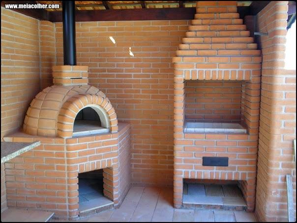 churrasqueira feita com tijolos refratarios