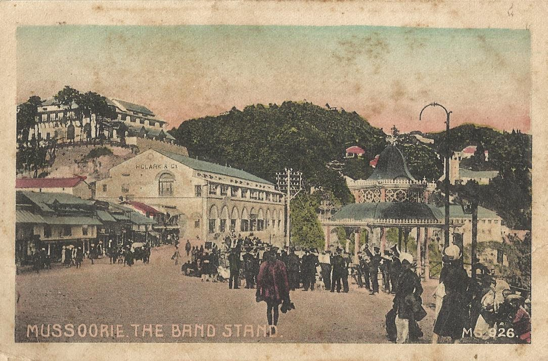 Heritage of India: Mussoorie The Band Stand vintage postcard