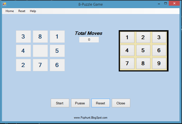 8 Puzzle Game In C Window Form Application Programming Seekerzz