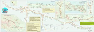 Peta jalur dalan dan tol yang dapat dipergunakan selama mudik Lebaran 2017.