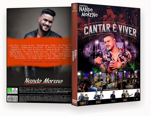 NANDO MORENO ESPECIAL CANTAR E VIVER DVD-R