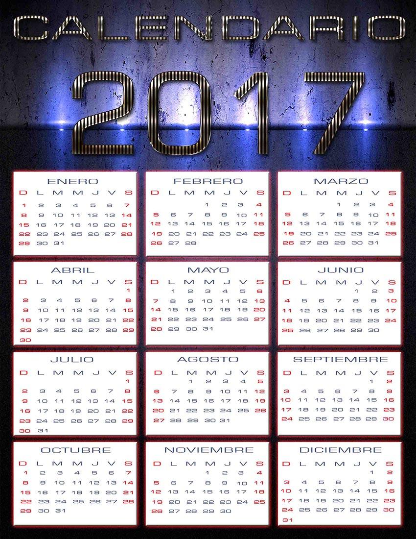 Editable 2016 2017 Calendar | Calendar Template 2016