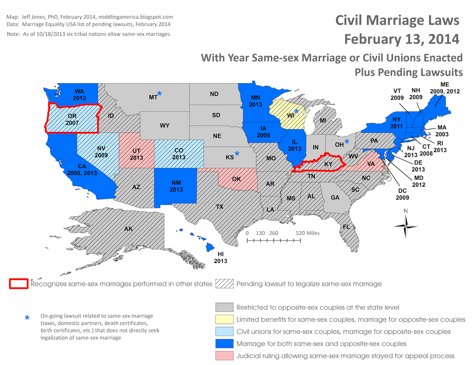 States that allow gay marriage or civil unions