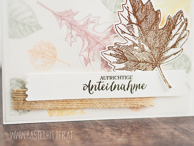 trauerkarte stampin up herbst laub bastelritter vorarlberg Vintage leaves