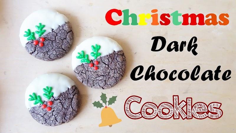 Christmas Dark Chocolate Cookies 聖誕朱古力曲奇