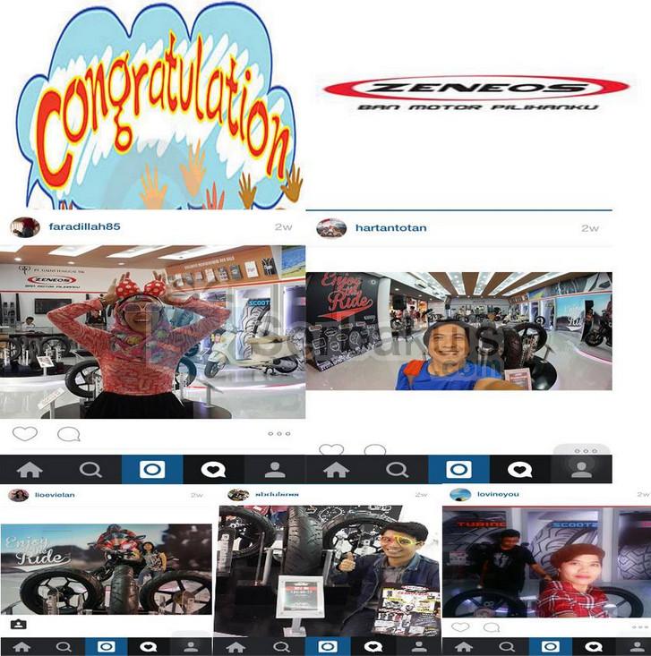 Pemenang Kontes Zeneos Selfie Challenge at Jakarta Fair