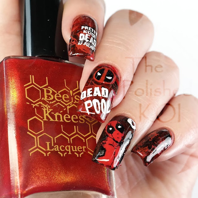 Deadpool Nail Art