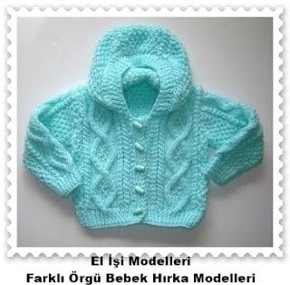 Örgü Bebek Hırka Modelleri 1