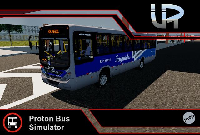 Skin Proton Bus Simulator - Torino 2007 MB OF-1418 Viação Fagundes