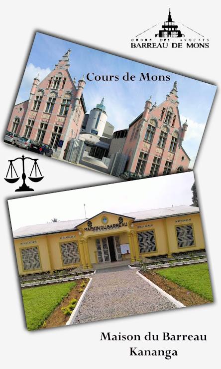 Cours, Justice, Bergen, Gerechtshof, jumelage, barreaux, Mons, Hainaut, Belgique, Kananga, Kasaï-central, RDC