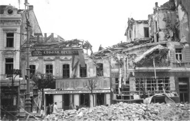 6 April 1941 worldwartwo.filminspector.com Belgrade bomb damage