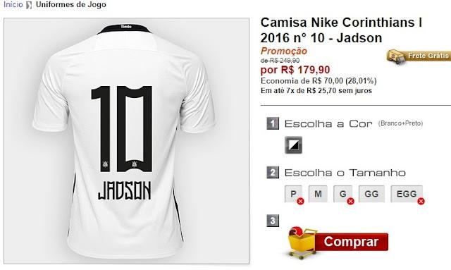 ShopTimão inicia vendas da camisa de Jadson - É o Time do Povo ... db861eea78248