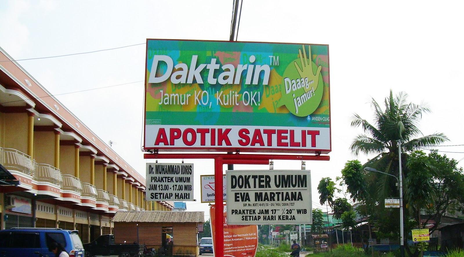"Contoh Neon BOX "" Daktarin"" ~ Reklame Pekanbaru"