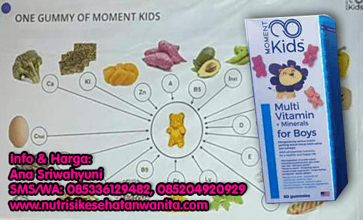 Produk Moment Kids Multi Vitamin + Mineral For Boys