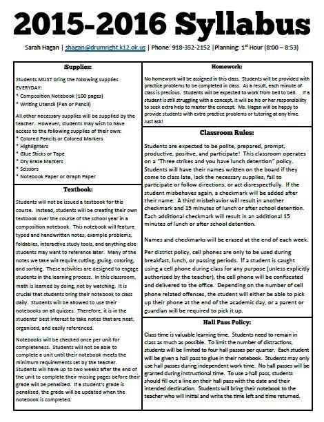 Creative Writing Syllabus For High School Students