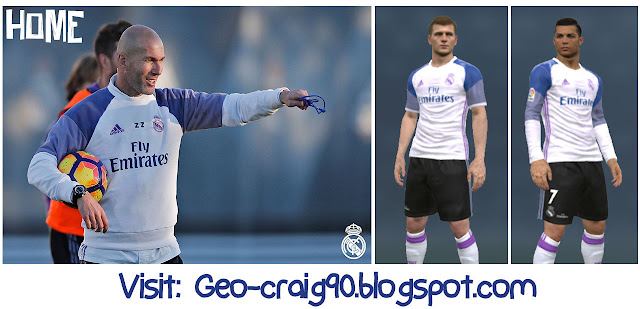 PES 2017 & 2016 Real Madrid Kit Fantasy V.2 by Geo_Craig90