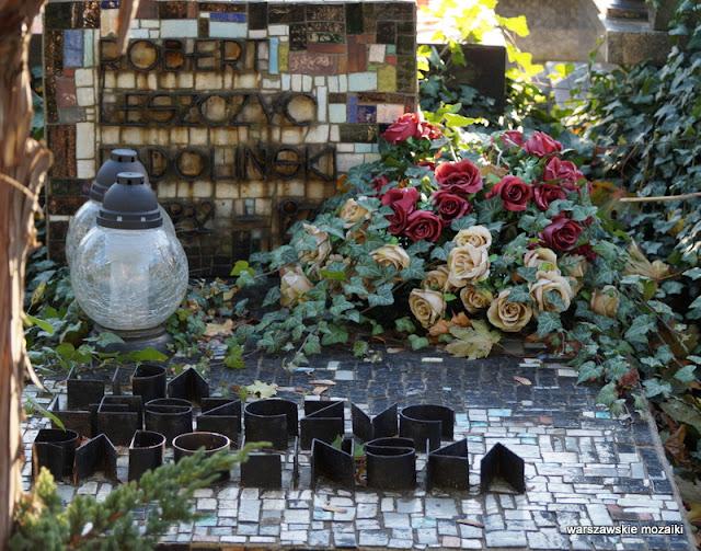 Warszawa Warsaw Cmentarz Wojskowy grób wojskowe Powązki warszawskie mozaiki