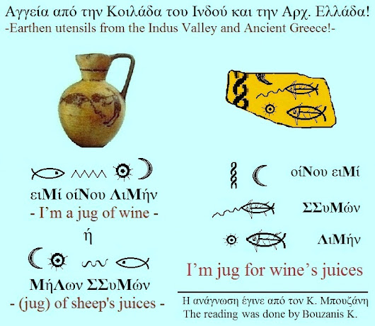 Two similar inscriptions in pots from Ancient Greece and from Indus River Valley!