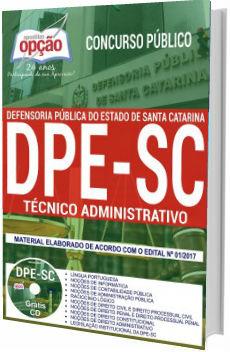 Apostila Concurso DPE-SC 2018 Técnico Administrativo