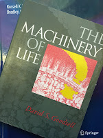 The Machinery of Life, by David Goodsell, superimposed on Intermediate Physics for Medicine and Biology.
