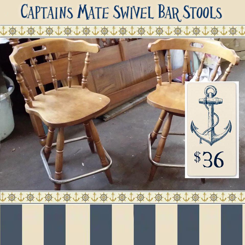 Vintage Pair Of Maple Bar Stools Okc Craigslist Garage