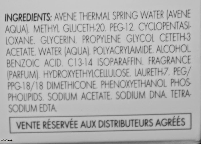 Avène Hydrance optimale Sérum hydratant composition