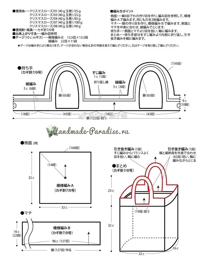 Схема вязания сумки Мандала (2)