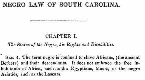 negro law slave status