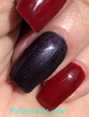 Black Velvet, Luscious Red, swatch