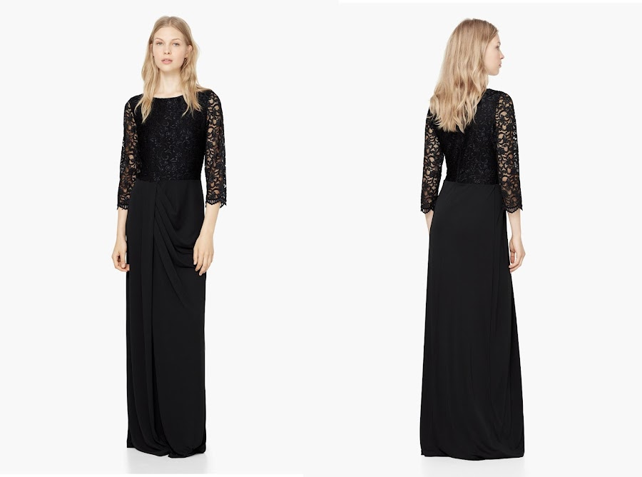 vestido largo negro