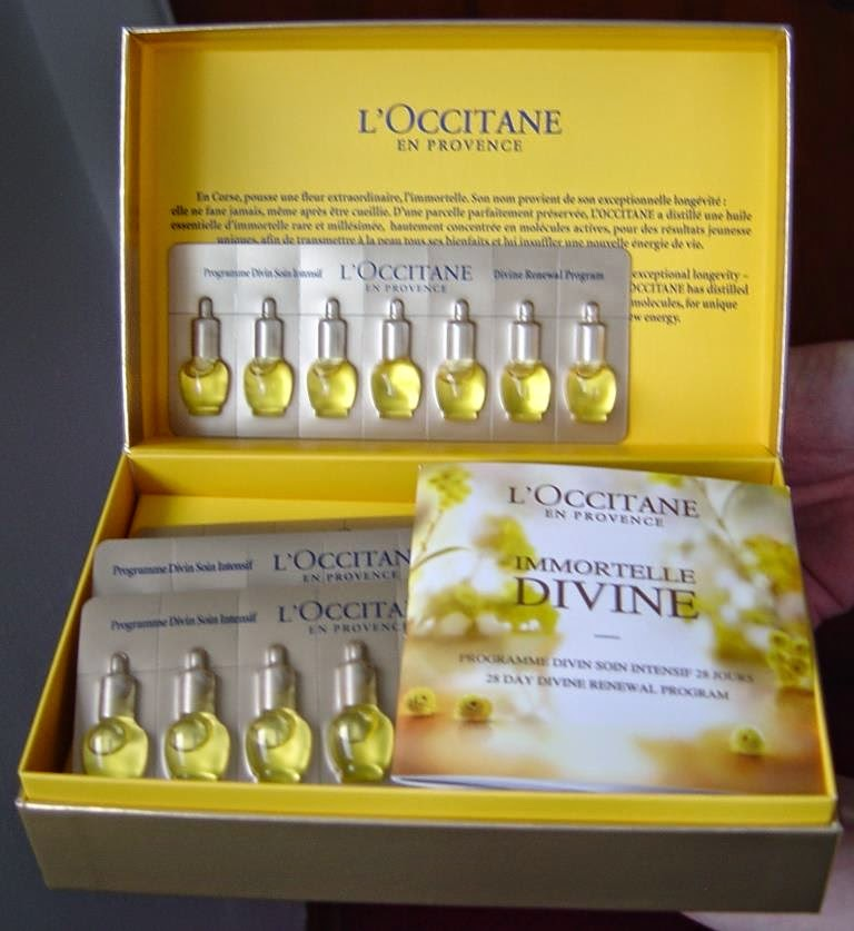 L'Occitane en Provence's 28 Day Divine Renewal Program in Opened Box.jpeg
