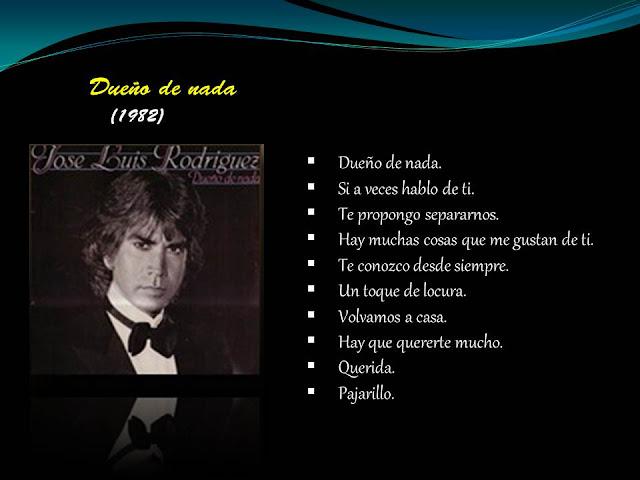 Yo Mutilar Ir al circuito  Discografía de José Luis Rodríguez | Canciones Del Ayer