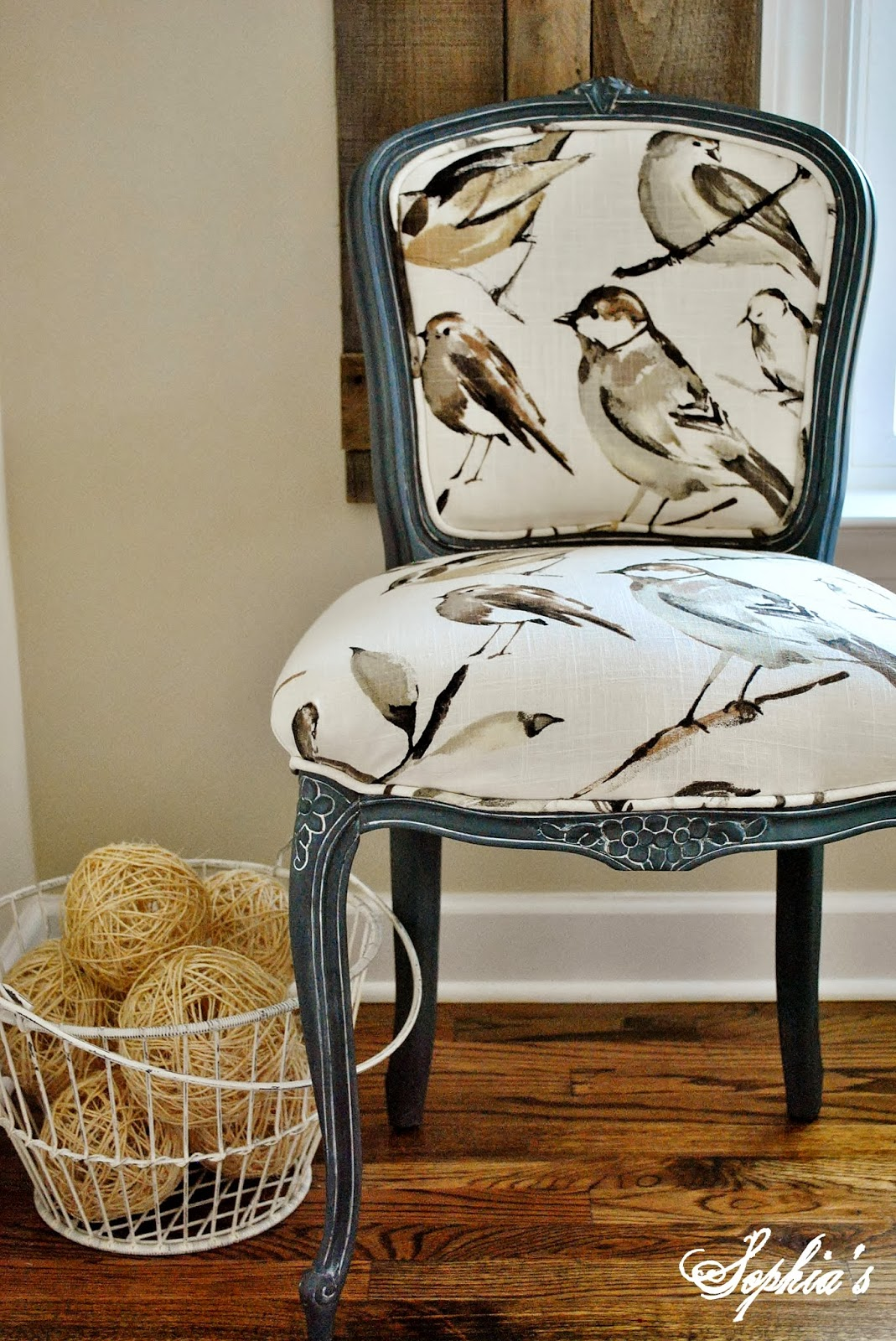 Bird Chair Sophia 39s French Chair Reupholstery Makeover And Tutorial