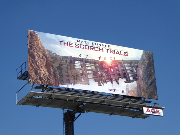 Maze Runner The Scorch Trials movie billboard