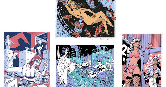 NEW YEAR PRINT BONANZA: Six Signed Screen Prints by DANNY HELLMAN