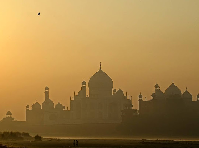 Early morning view of the Taj from a secret hidden spot