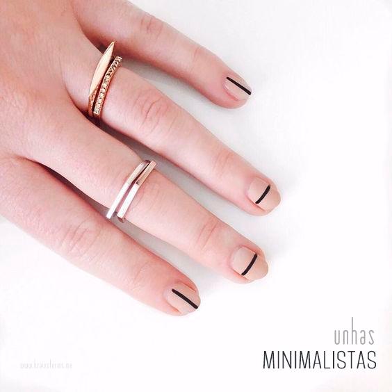 unhas minimalistas