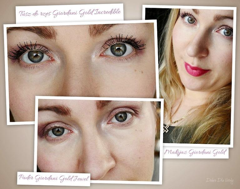 Makijaż by Oriflame - Puder prasowany, Tusz do rzęs i Pomadka do ust Giordani Gold make up