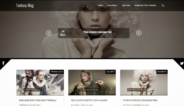 Fantasy Mag - Responsive Magazine Blogger Template