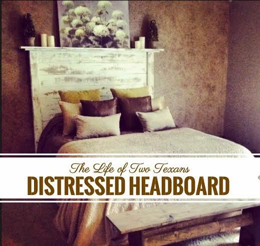 Diy Distressed Headboard Bed Frame
