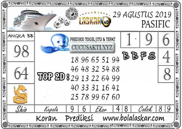 Prediksi Togel Jitu PASIFIC LASKAR4D 29 AGUSTUS 2019