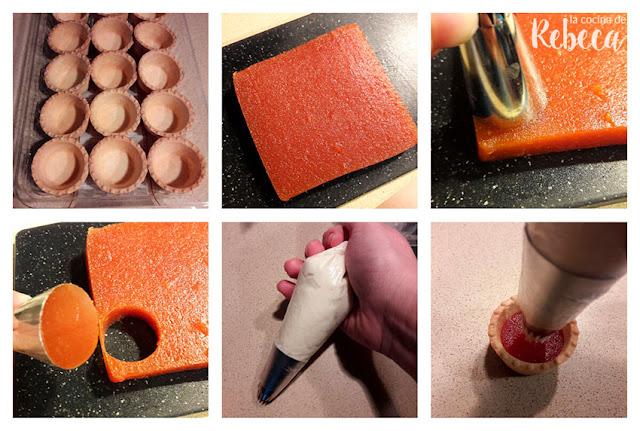 Receta de tartaletas de crema de queso, membrillo y nueces 01