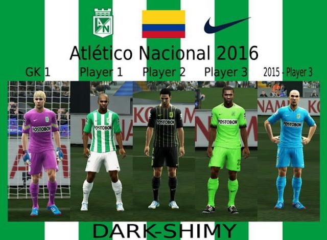 PES 2013 Atletico Nacional Kit 2016