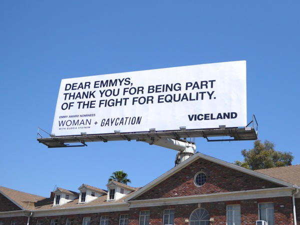 Dear Emmys equality Gaycation Viceland billboard