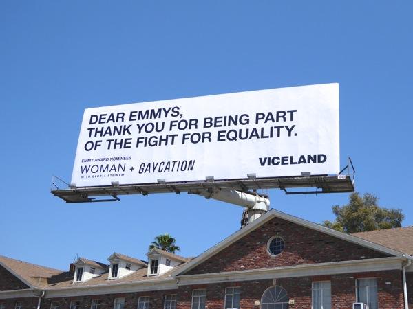 Dear Emmys equality Gaycation Viceland billboard